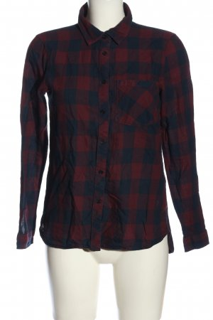 Jaqueline de Yong Flannel Shirt red-blue allover print casual look