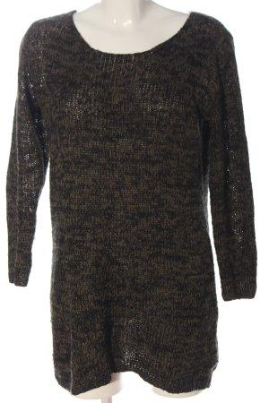 Jaqueline de Yong Pull en crochet brun moucheté style décontracté