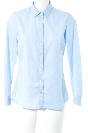 Jaqueline de Yong Hemd-Bluse blau Streifenmuster Business-Look