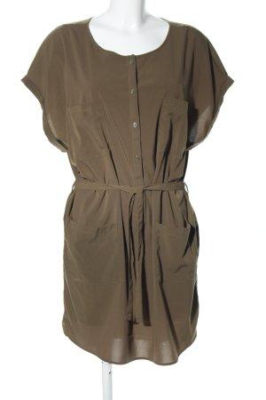 Jaqueline de Yong Hemdblusenkleid khaki Business-Look