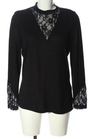 Jaqueline de Yong Langarm-Bluse schwarz Casual-Look