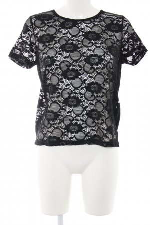 Jaqueline de Yong Mesh Shirt black casual look