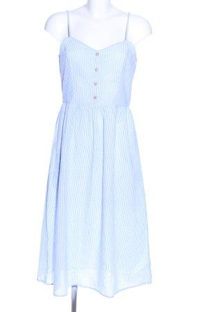 Jaqueline de Yong Trägerkleid blau-weiß Streifenmuster Casual-Look