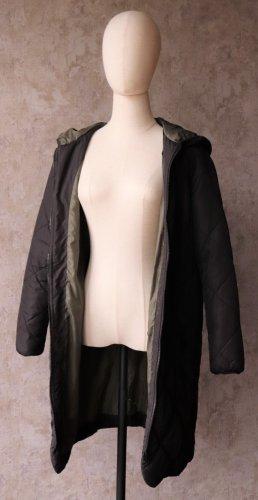 Jaqueline de Yong Quilted Coat black-khaki polyester
