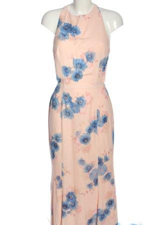 Jarlo Maxi Dress pink-blue flower pattern casual look
