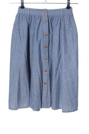 JASPAL Jupe taille haute bleu moucheté style décontracté