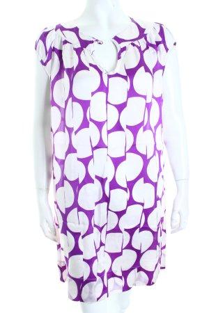 Jasper Conran Minikleid lila-weiß Casual-Look