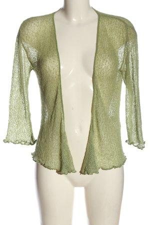 Java Bolerko z dzianiny zielony W stylu casual