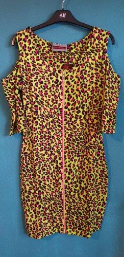 Robe en maille tricotées multicolore