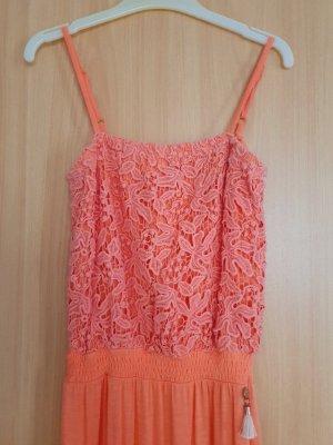 JBC Kleid, Mädchen MaxiKleid, Gr. 146-152 cm, orange, Lachs