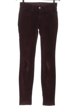 JBRAND Pantalon en velours côtelé brun style décontracté