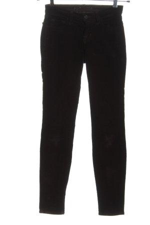 JBRAND Pantalon en velours côtelé noir style décontracté