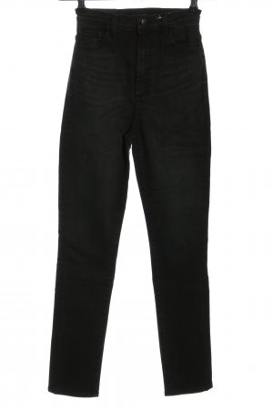 JBRAND High Waist Jeans schwarz Casual-Look