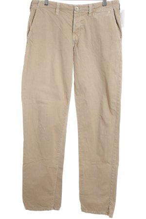 JBRAND Pantalone a vita bassa color cammello stile povero