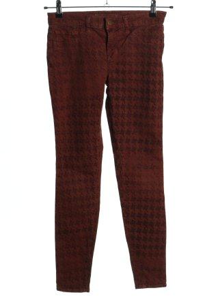 JBRAND Skinny Jeans braun abstraktes Muster Casual-Look