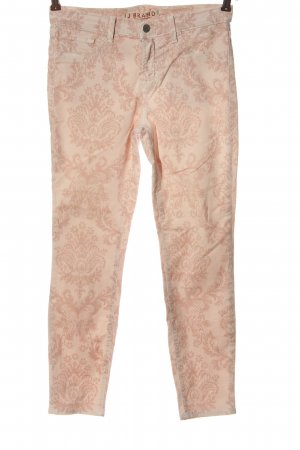 JBRAND Skinny Jeans nude abstract pattern casual look