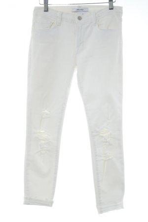 JBRAND Skinny Jeans wollweiß Destroy-Optik