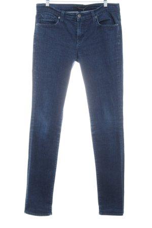 JBRAND Slim Jeans dunkelblau meliert Jeans-Optik