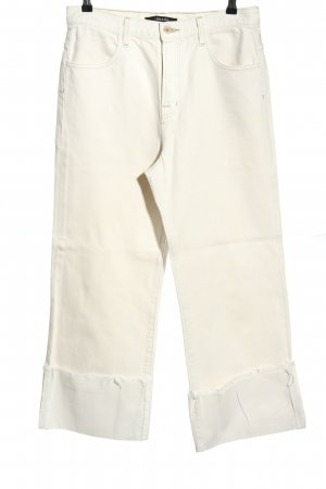 JBRAND Jeansy z prostymi nogawkami biały W stylu casual