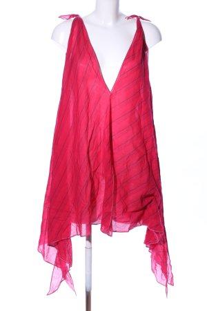 Trägertop rot Streifenmuster Casual-Look