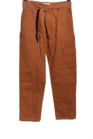 jdy Pantalon cargo brun style décontracté