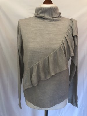 Jacqueline de Yong Turtleneck Sweater light grey-grey