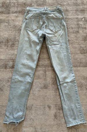 Stradivarius Biker Jeans azure