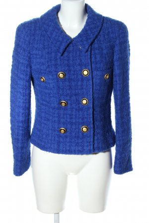 Jean Claire Kurzjacke blau grafisches Muster Business-Look