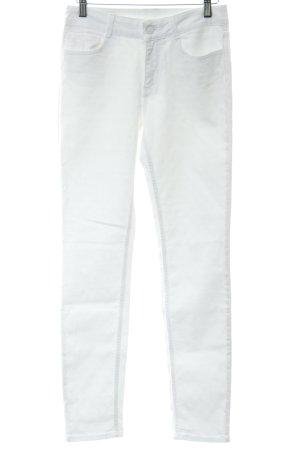Jean Claude Pierlot Slim Jeans weiß Punktemuster Casual-Look