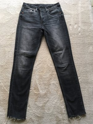 Hoge taille jeans donkergrijs
