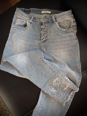 Karostar Jeans larghi multicolore