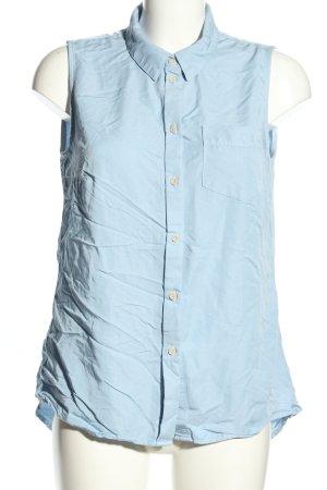 Jean Pascale ärmellose Bluse blau Business-Look