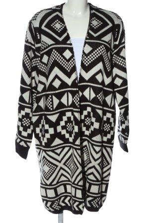 Jean Pascale Kardigan czarny-biały Na całej powierzchni W stylu casual