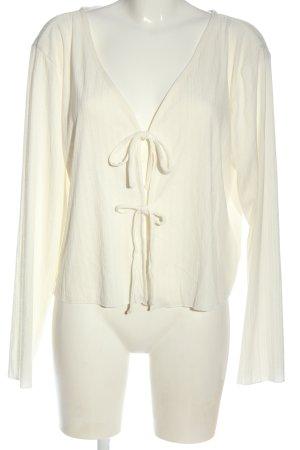 Jean Pascale Kardigan biały W stylu casual