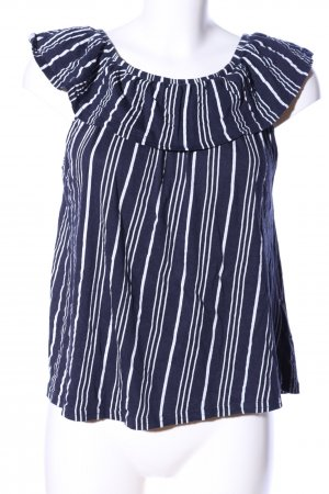 Jean Pascale Carmenshirt blau-weiß Streifenmuster Casual-Look