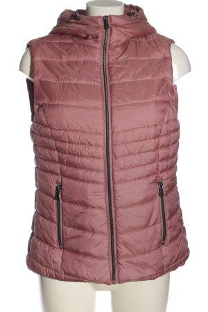 Jean Pascale Puchowa kamizelka różowy Pikowany wzór W stylu casual