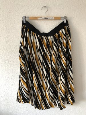 Jean Pascale Plaid Skirt black-sand brown