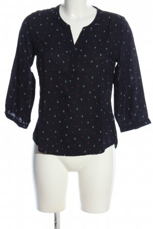 Jean Pascale Hemd-Bluse Allover-Druck Casual-Look