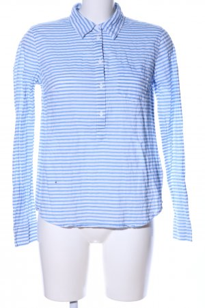 Jean Pascale Hemd-Bluse blau-weiß Streifenmuster Casual-Look