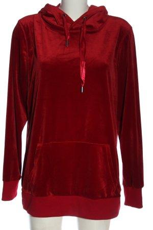 Jean Pascale Bluza z kapturem czerwony W stylu casual