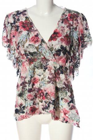 Jean Pascale Kurzarm-Bluse Allover-Druck Casual-Look