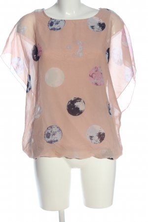 Jean Pascale Kurzarm-Bluse grafisches Muster Casual-Look