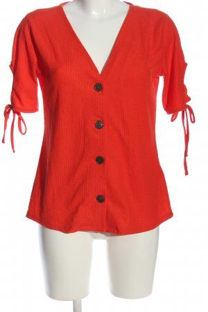Jean Pascale Kurzarm-Bluse rot Casual-Look