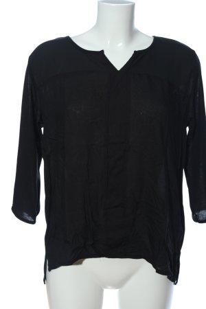 Jean Pascale Langarm-Bluse schwarz Casual-Look