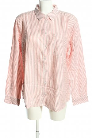 Jean Pascale Langarmhemd pink-weiß Streifenmuster Business-Look