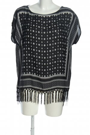 Jean Pascale Oversized Shirt black-white allover print casual look