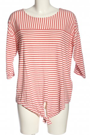Jean Pascale Stripe Shirt white-red allover print casual look