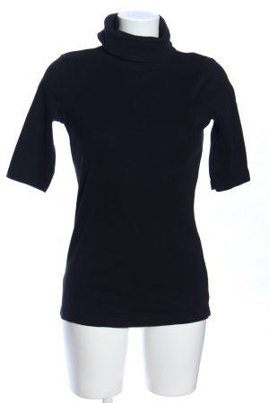 Jean Pascale Camisa de cuello de tortuga negro look casual