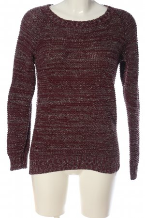 Jean Pascale Rundhalspullover rot meliert Casual-Look