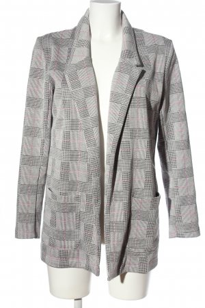 Jean Pascale Knitted Blazer light grey-black check pattern casual look